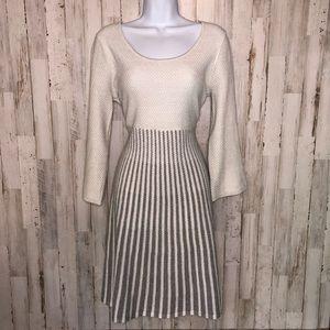 Calvin Klein Gray Metallic Shimmer Sweater Dress